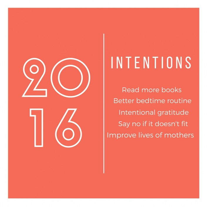 2016 Intentions