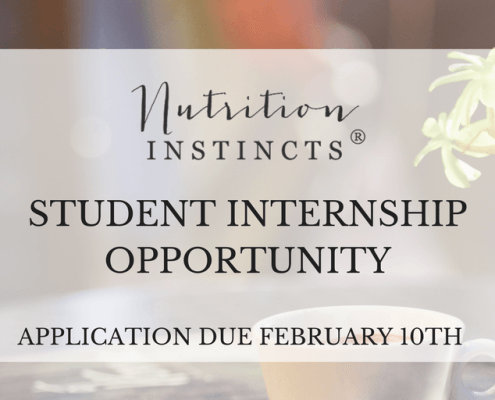 Student Internship Opportunity with San Diego Dietitian