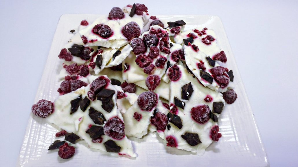 Raspberry Yogurt Bark