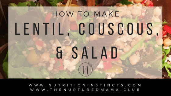 Super Easy & Delicious Lentil, Couscous & Steak Salad