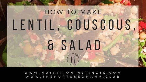 Super Easy & Delicious Lentil, Couscous & Steak Salad