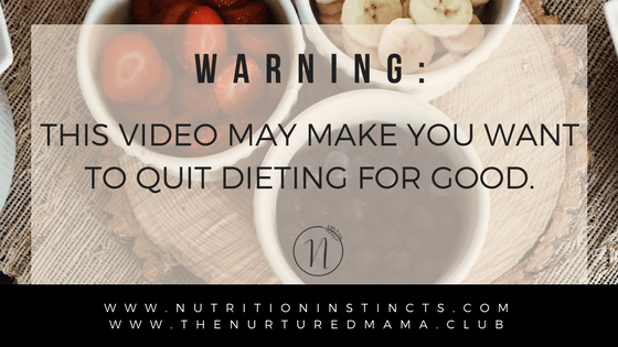 Quit dieting for good