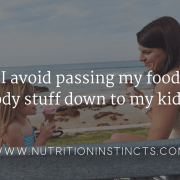 photo of mom and daughter eating ice cream for blog titled, Can I avoid passing my food and body stuff down to my kids?